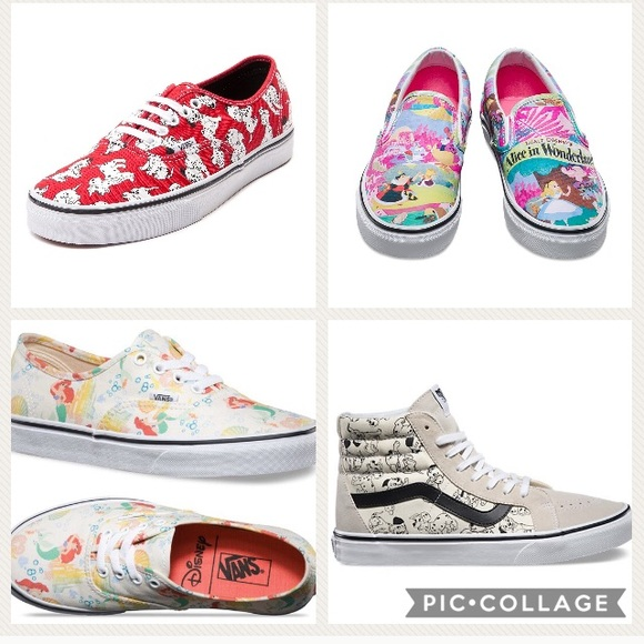 disney vans shoes ariel